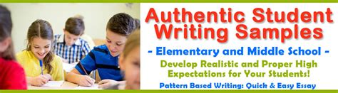 pattern based writing quick easy essay elementary writing sles middle school writing exles