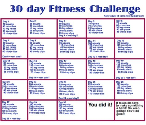 30 day workout plan for men at home 60 day fitness challenge exercises albertine truchon
