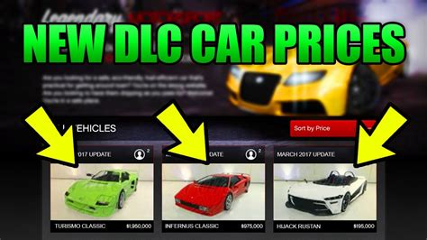 prices new cars gta 5 new dlc cars prices 4 new cars early
