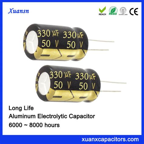 capacitor lifespan hours dip electrolytic 330uf 50v capacitor 105c