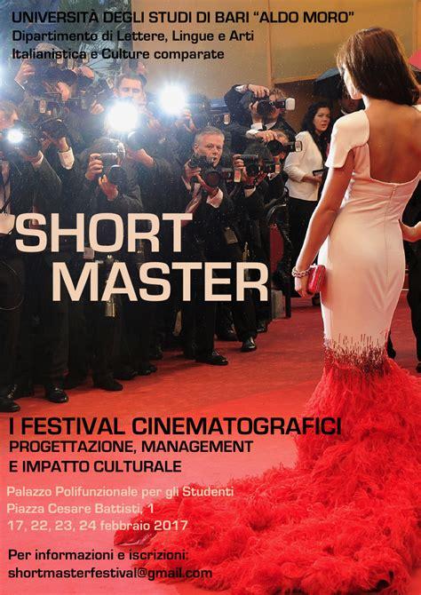 segreteria lettere bari i festival cinematografici progettazione management e
