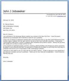 Sample Resume For Lawn Care Worker Landscape Cover Letter Sample Career Life Pinterest