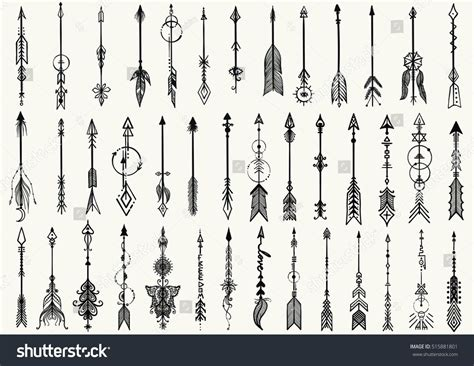 tribal arrow tattoo big set of tribal arrows for design element and