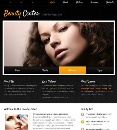 A New Collection Of Free Html5 And Css3 Templates Page 2 Hair Salon Website Design Templates Free