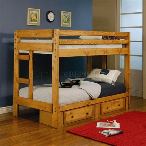 coaster bunk bed 460243 wrangle hill bunk bed in amber wash by coaster