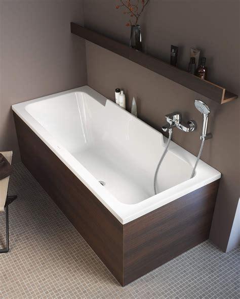 bathtub duravit duravit durastyle 1600 x 700mm bath with left slope and