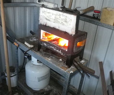 pattern welding forge backyard metal casting and homemade forges