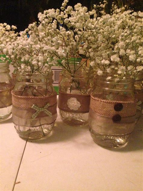 jar centerpieces for baby shower vintage rustic baby shower wedding jars baby shower wedding jars and