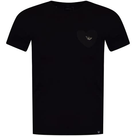Armani T Shirt emporio armani emporio armani black printed logo t