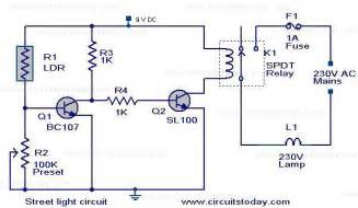 lights circuit automatic light controller circuit using relays and ldr