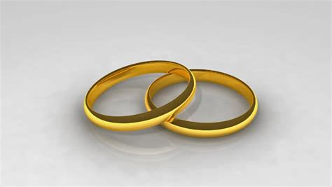 Wedding Rings Animation by 3d Animated Wedding Rings In Hd1080 Stock Footage