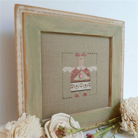 country decor cross stitch framed wall cross