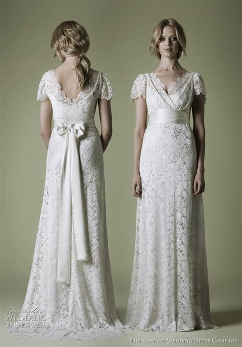 Vintage Style Wedding Dresses by The Vintage Wedding Dress Company Decades Lace Bridal