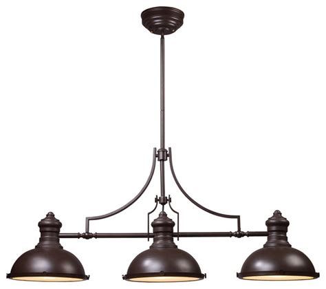 Industrial Island Lighting Elk Lighting Chadwick Island Light Industrial Kitchen Island Lighting By Ls Expo
