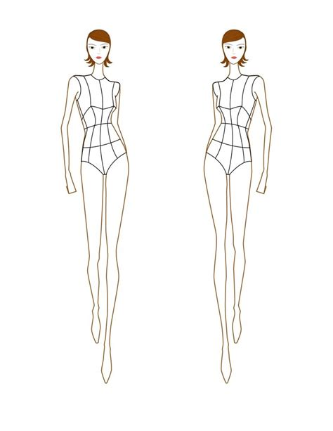 free fashion sketch templates croquis front view croquis illustrations