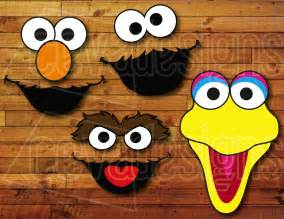 Elmo Cut Out Template by Sesame Birthday Decoration 12 Printable Diy