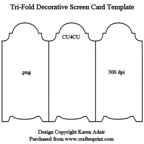 free tri fold phlet template 25 best ideas about screen cards on tri fold