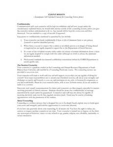 counselling consent form template best photos of counselor informed consent sle
