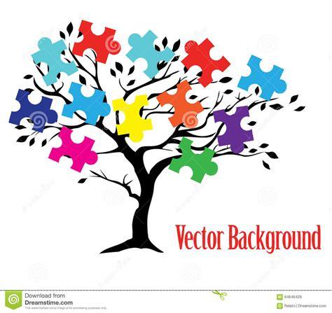 puzzle tree stock vector image 64646429