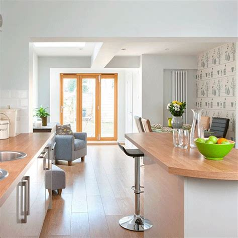 Kitchen And Dining Room Open Floor Plan Calming Kitchen Colour Scheme Take A Tour Of This Light