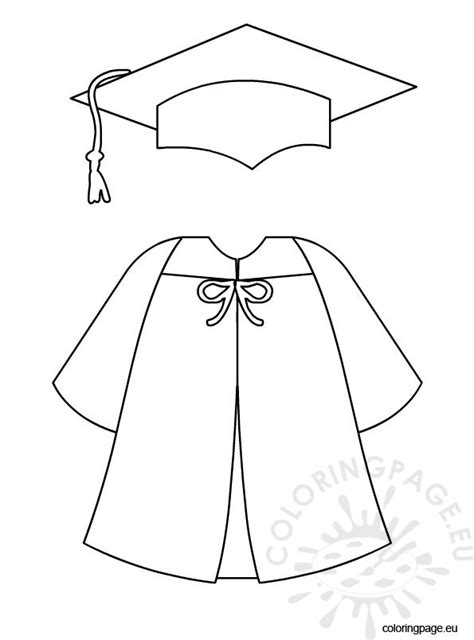 graduation cap card template coloring graduation cap and gown coloring page
