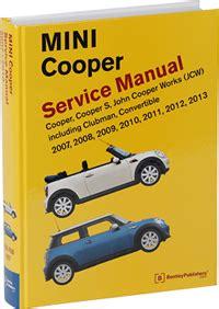 service repair manual free download 2008 mini cooper engine control mini cooper service manual 2007 2013 bentley publishers repair manuals and automotive books