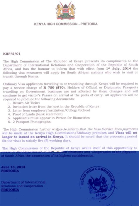 Invitation Letter For Visa South Africa format of business invitation letter in kenya image