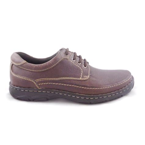 mens casual leather shoes mens brown leather lace up casual shoe from