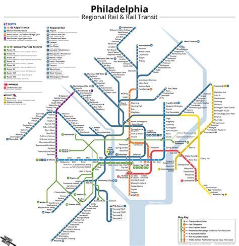 philadelphia subway map unofficial philadelphia rail transit map on behance