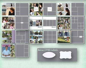 Album Templates Etsy Yearbook Collage Template