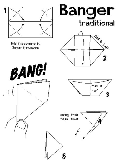 Origami Paper Banger - boat terms diagram boat free engine image for user