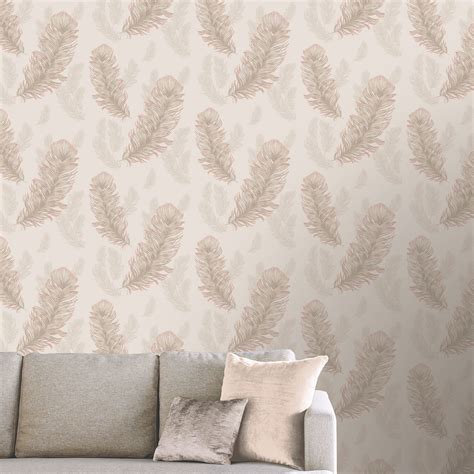 rose gold wallpaper ebay precious metals sirius feathers wallpaper feature wall