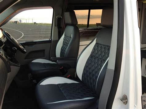 Vw Seat Upholstery by Vw T5 Cer Upholstery Diamonds With Colour Band Vdub