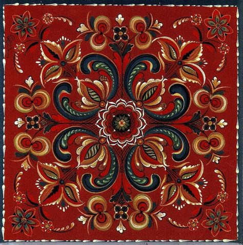 scandinavian pattern history norwegian trivet tile vest agder rosemaling 6 quot x 6 quot art