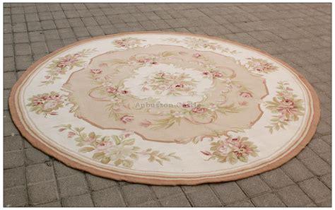 6x6 shabby chic aubusson rug light pink ivory