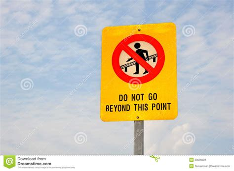 to go free or not to go free should you choose do not go beyond this point stock image image 20090821