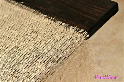 how to make a no sew burlap table runner paperblog
