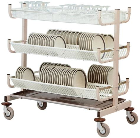 Stainless Steel Commercial Kitchen Cabinets by Dish Drying Rack Trolley For 300 Dishes