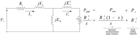 equivalent circuit of a three phase induction motor electrical engineering stack exchange
