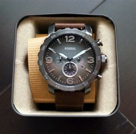 Jam Tangan Pria Bregenz Bgz1010 Leather Brown Original Simple Jual Fossil Jr1424 Nate Chronograph Brown Leather