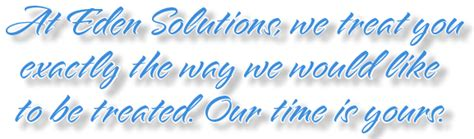 eden solutions blue gold solution customer support