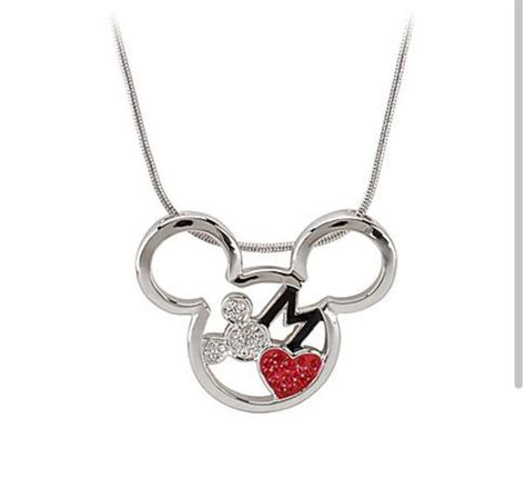 mickey mouse necklace disney