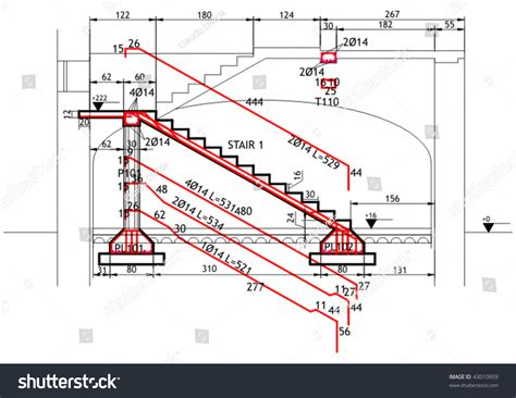 structure drawing structural drawing reinforced concrete structure stair