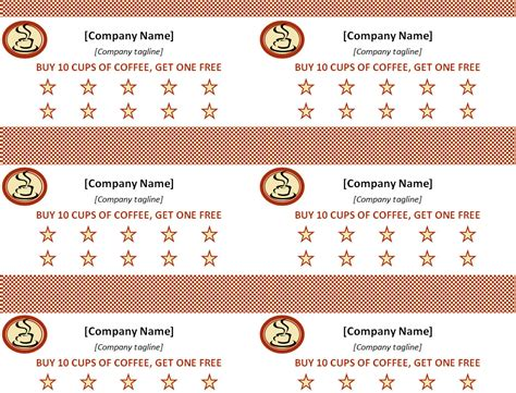 punch card template avery free avery business card templates microsoft works