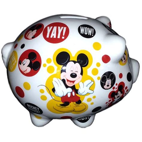 your wdw store disney coin bank ceramic piggy bank