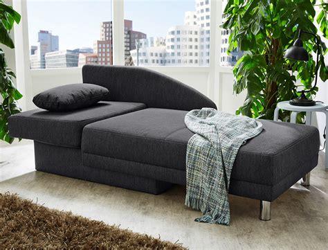 recamiere rocco  anthrazit ottomane schlafsofa couch