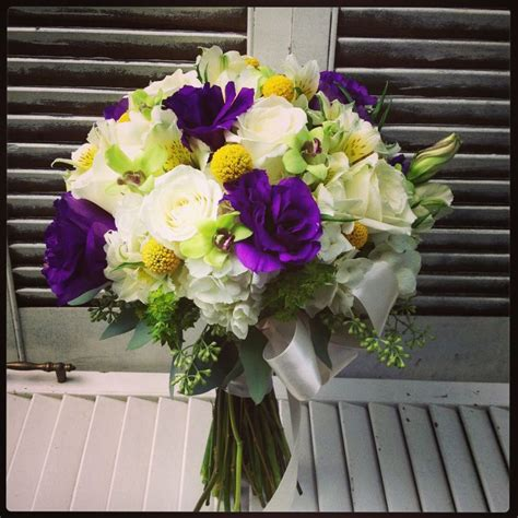 17 Best Images About Bridal Bouquets On Pinterest Purple And Yellow Wedding Centerpieces
