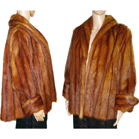 swing mink coat vintage 1940s mink jacket swing coat mink real fur