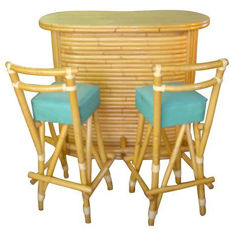 tiki bar stools vintage rattan tiki bar and stools at 1stdibs
