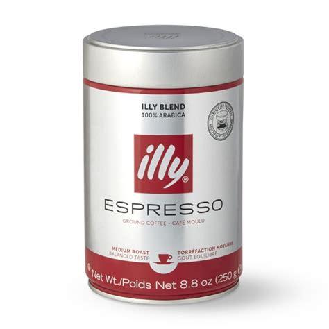 Coffee Illy illy espresso medium roast finely ground coffee williams sonoma